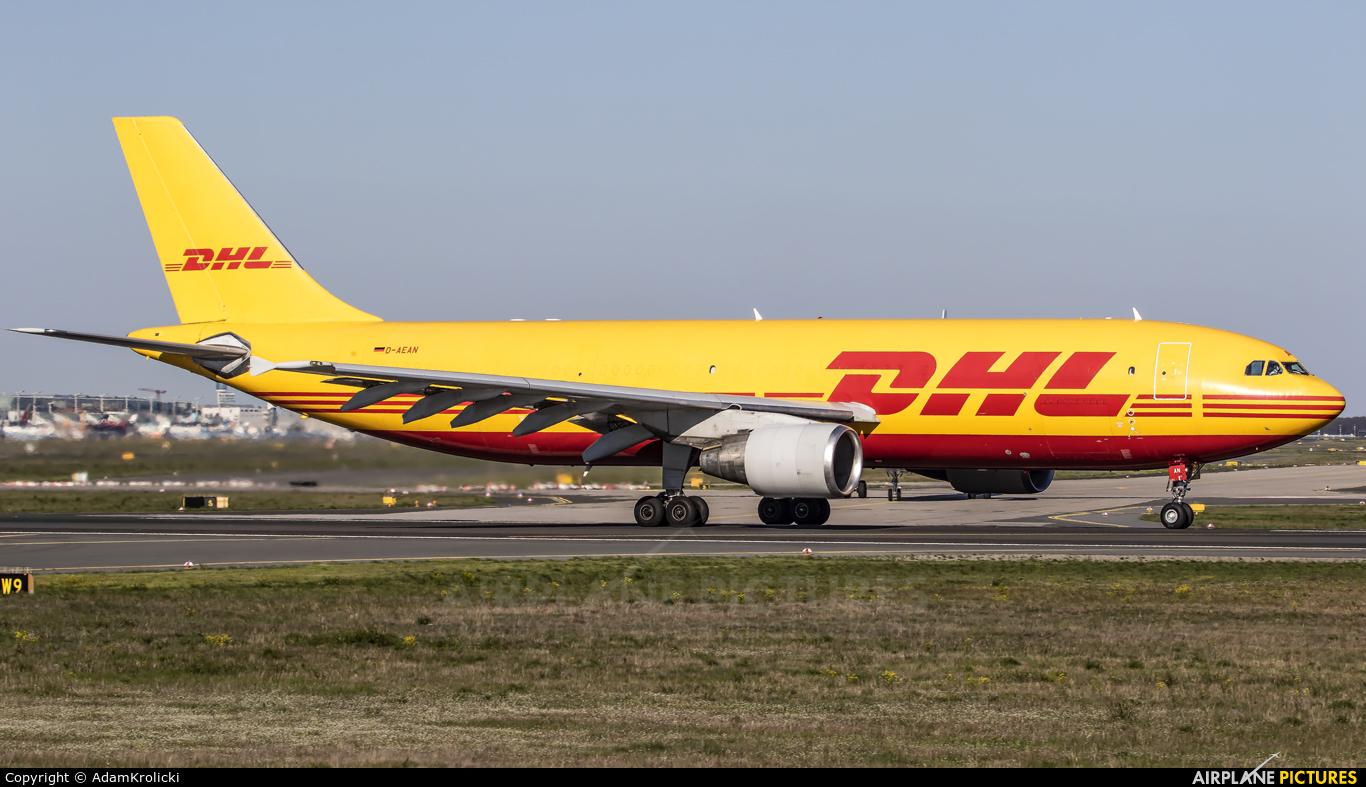 DHL Cargo D-AEAN aircraft at Frankfurt