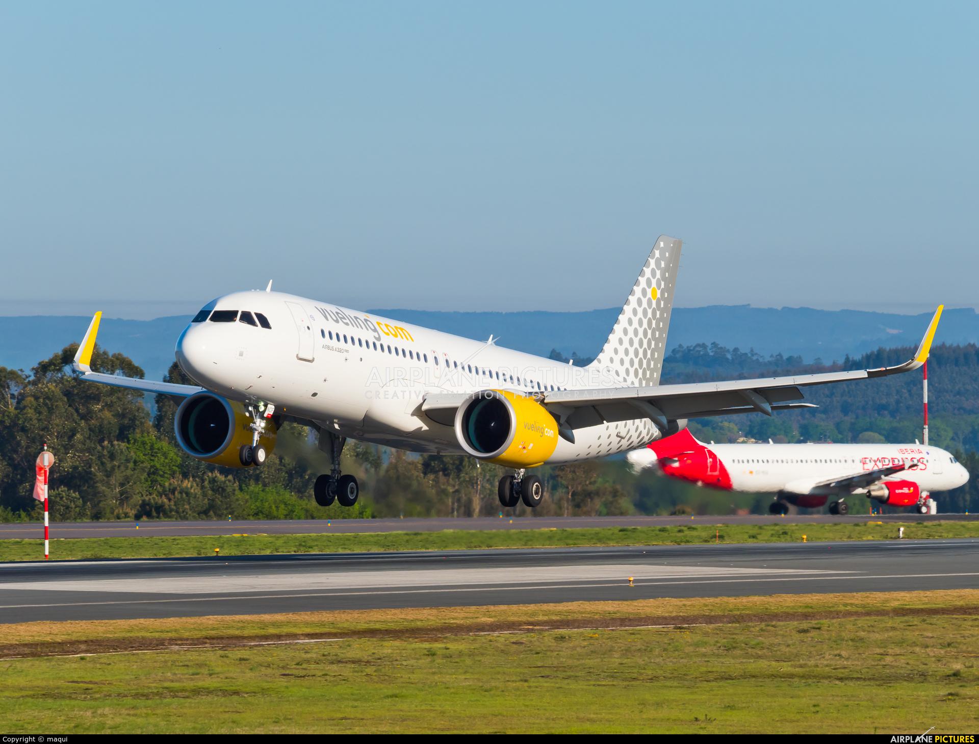 Vueling Airlines EC-NCF aircraft at Santiago de Compostela