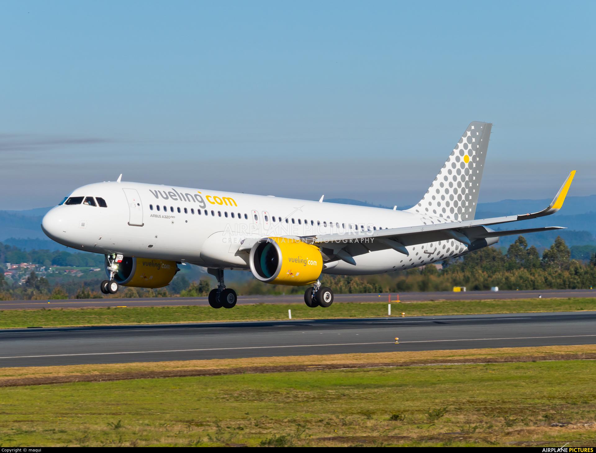 Vueling Airlines EC-NCS aircraft at Santiago de Compostela