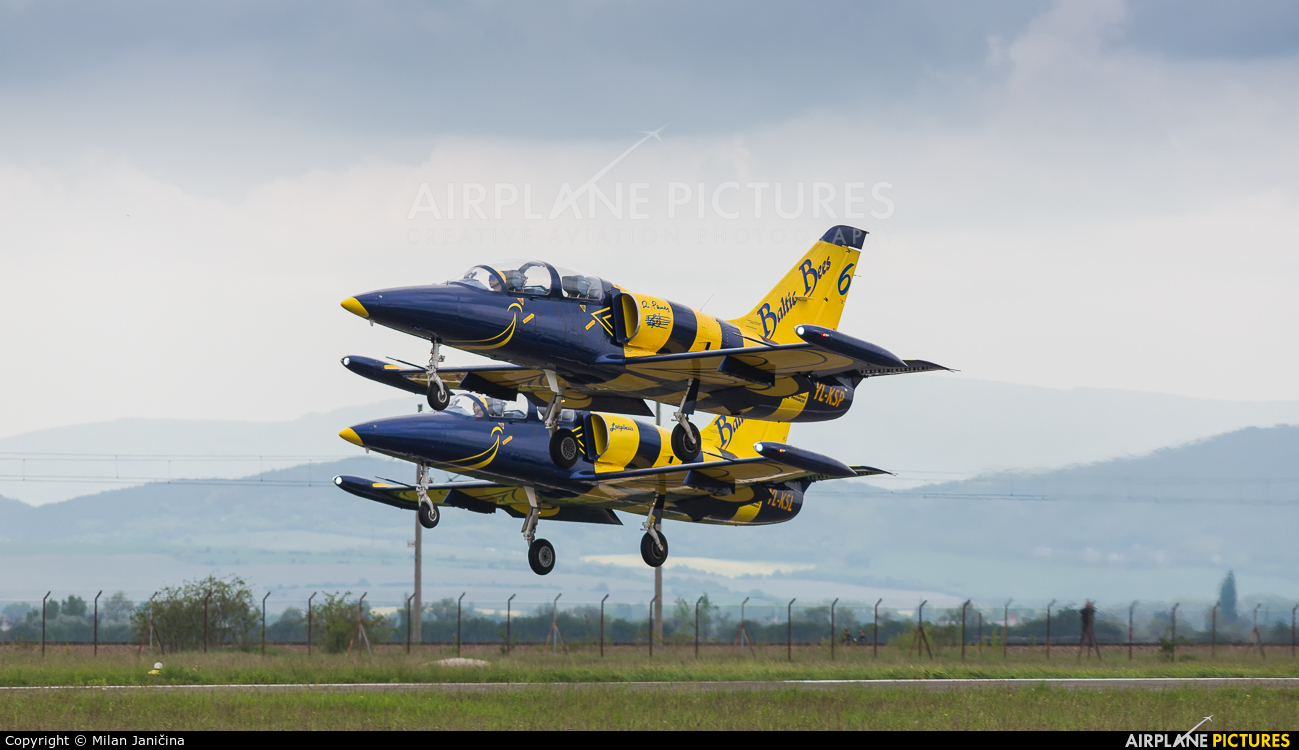 Baltic Bees Jet Team YL-KSP aircraft at Piestany