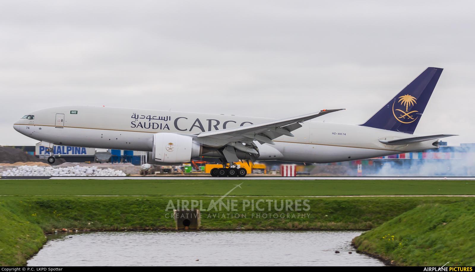 Saudi Arabian Cargo HZ-AK74 aircraft at Amsterdam - Schiphol