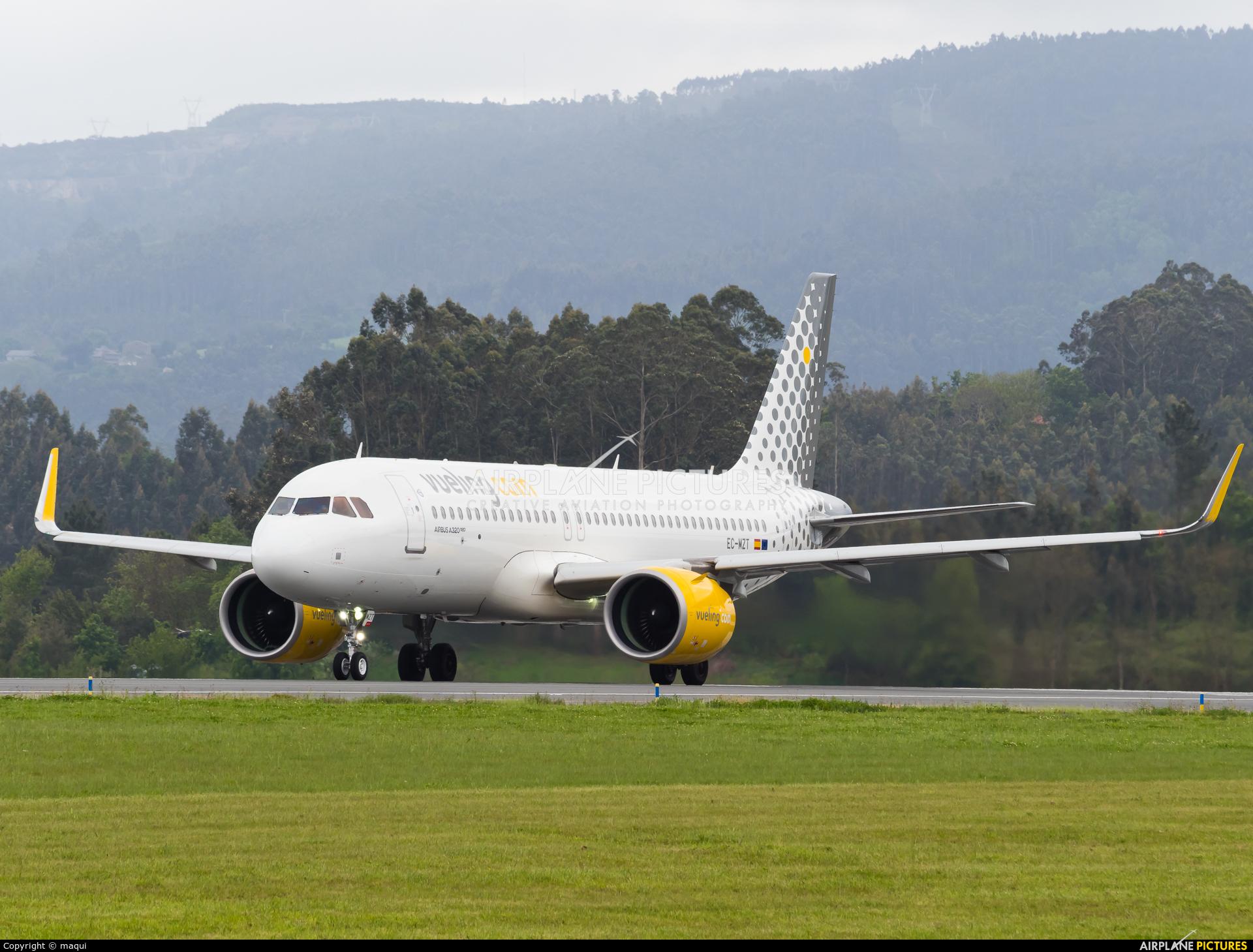 Vueling Airlines EC-MZT aircraft at La Coruña