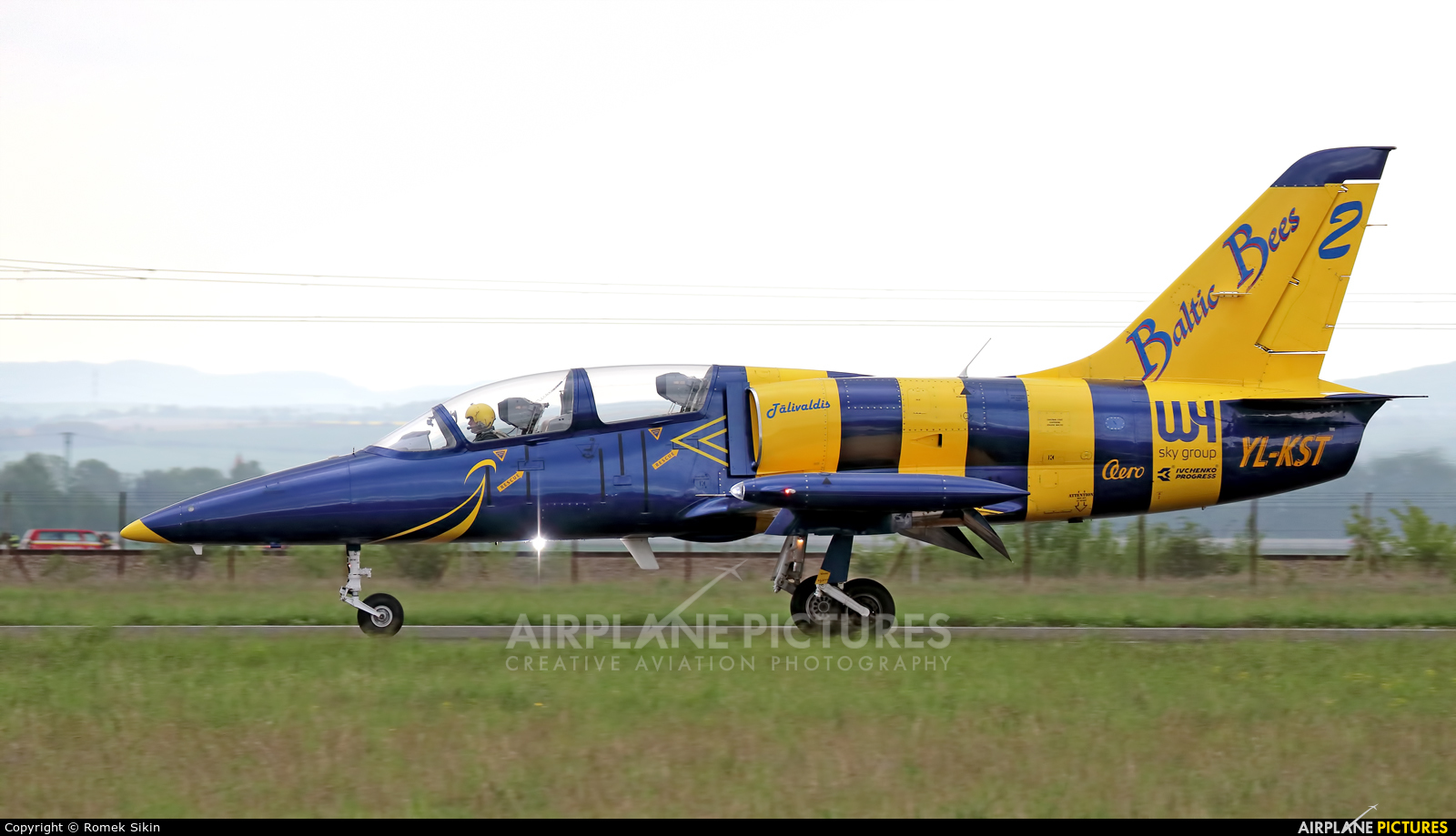 Baltic Bees Jet Team YL-KST aircraft at Piestany