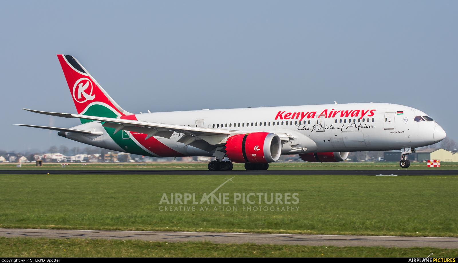 Kenya Airways 5Y-KZC aircraft at Amsterdam - Schiphol