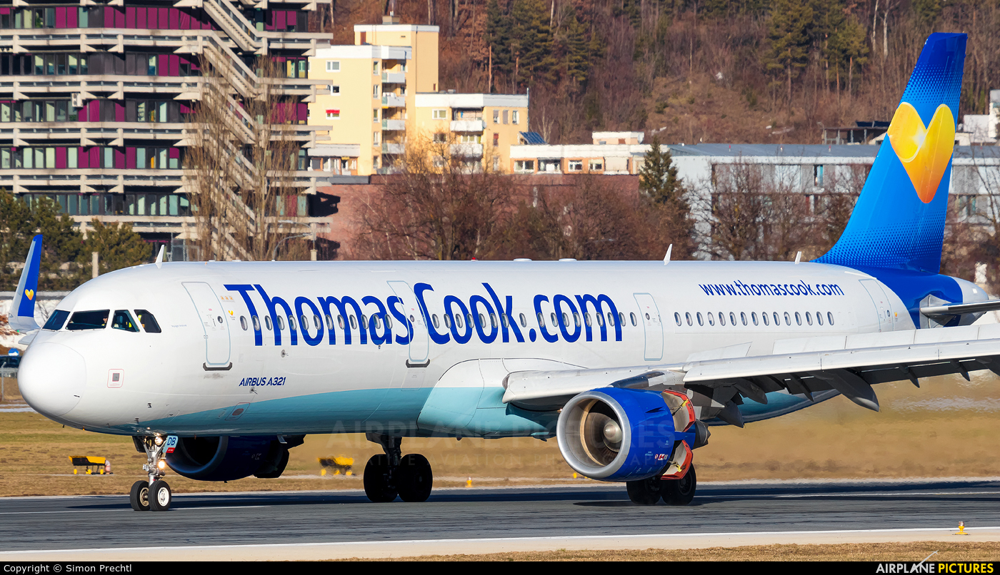 Thomas Cook G-TCDB aircraft at Innsbruck