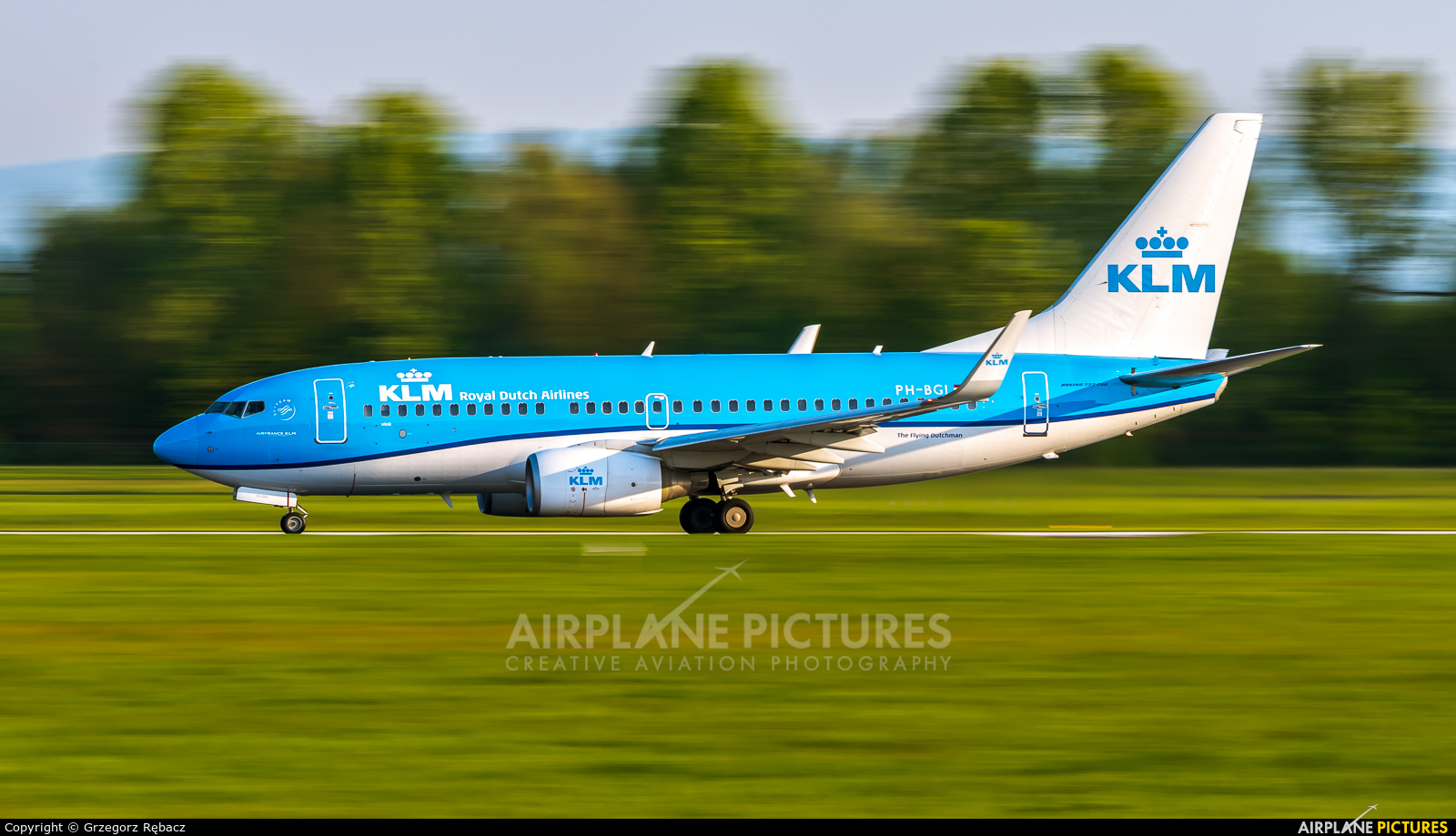 KLM PH-BGI aircraft at Kraków - John Paul II Intl
