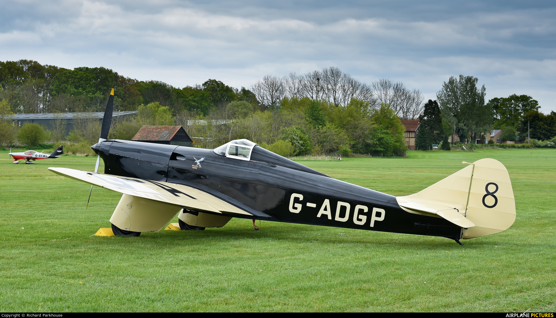 Private G-ADGP aircraft at Old Warden