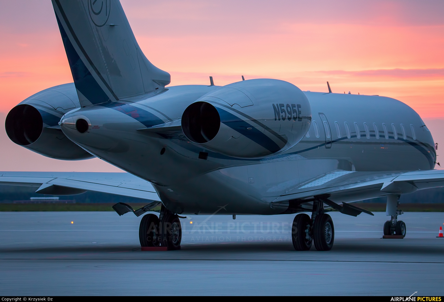 Private N595E aircraft at Katowice - Pyrzowice