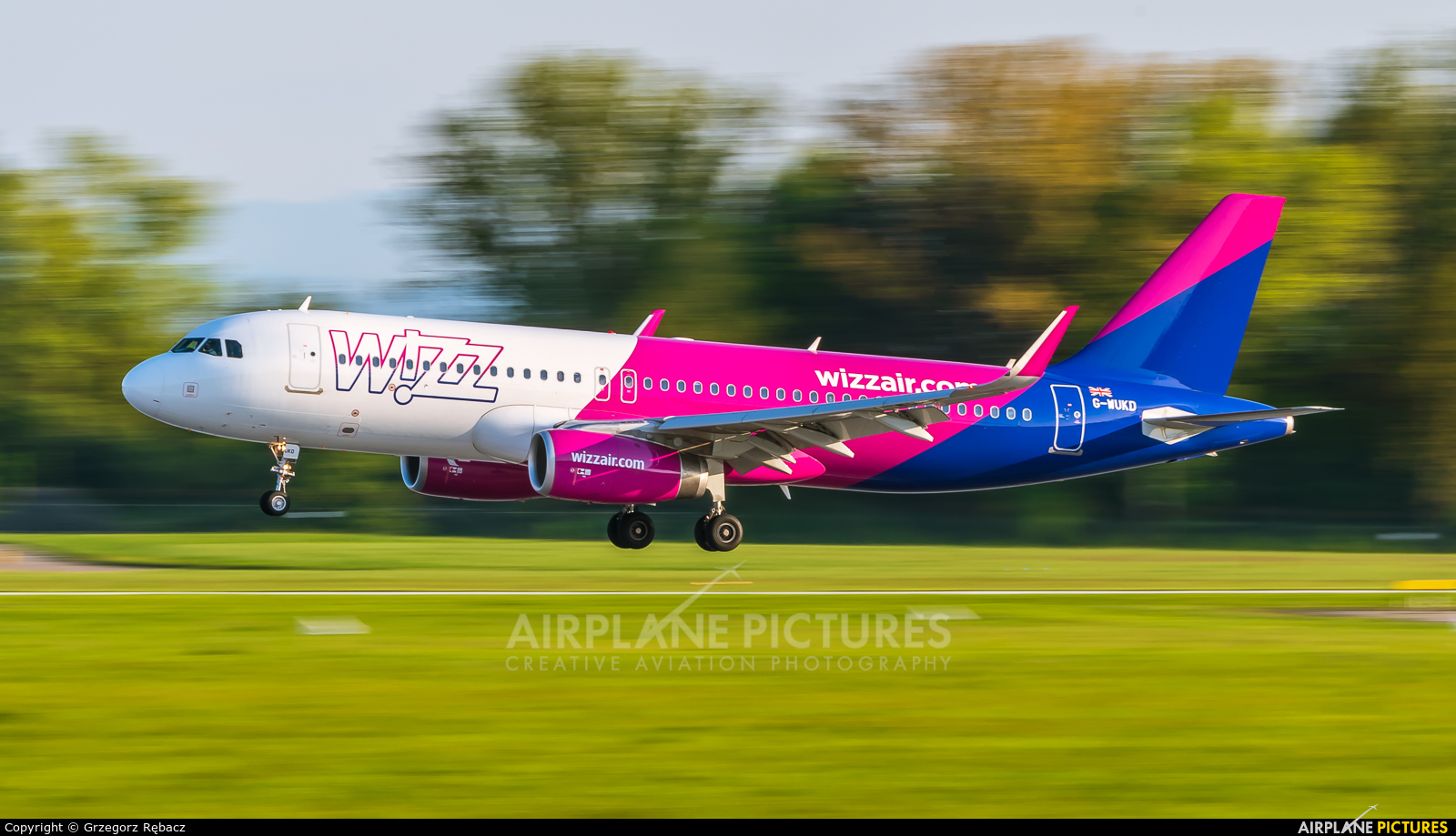 Wizz Air UK G-WUKD aircraft at Kraków - John Paul II Intl