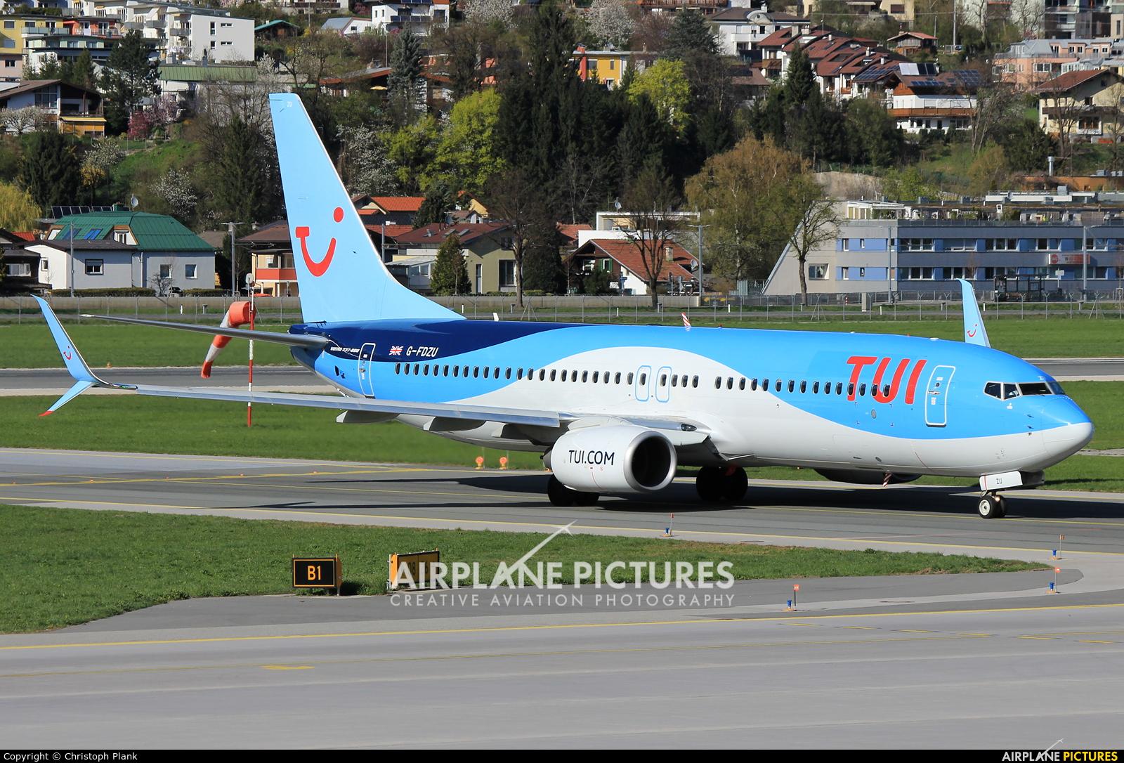 TUI Airways G-FDZU aircraft at Innsbruck