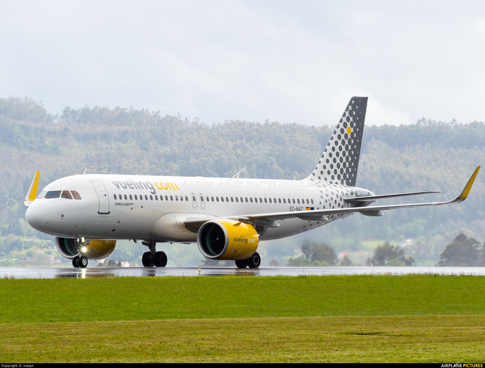 Vueling Airlines EC-NAZ aircraft at La Coruña
