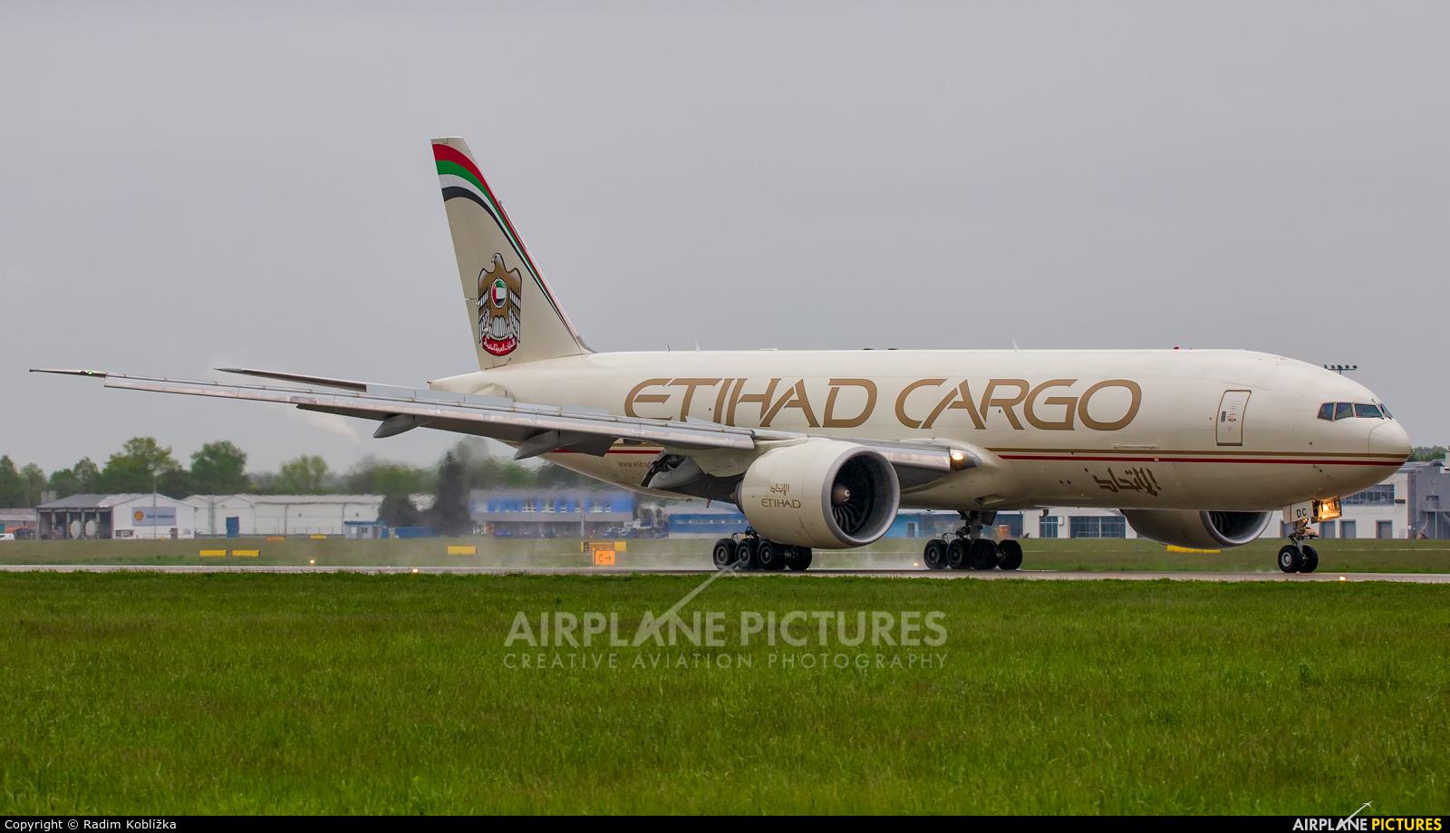 Etihad Cargo A6-DDC aircraft at Ostrava Mošnov