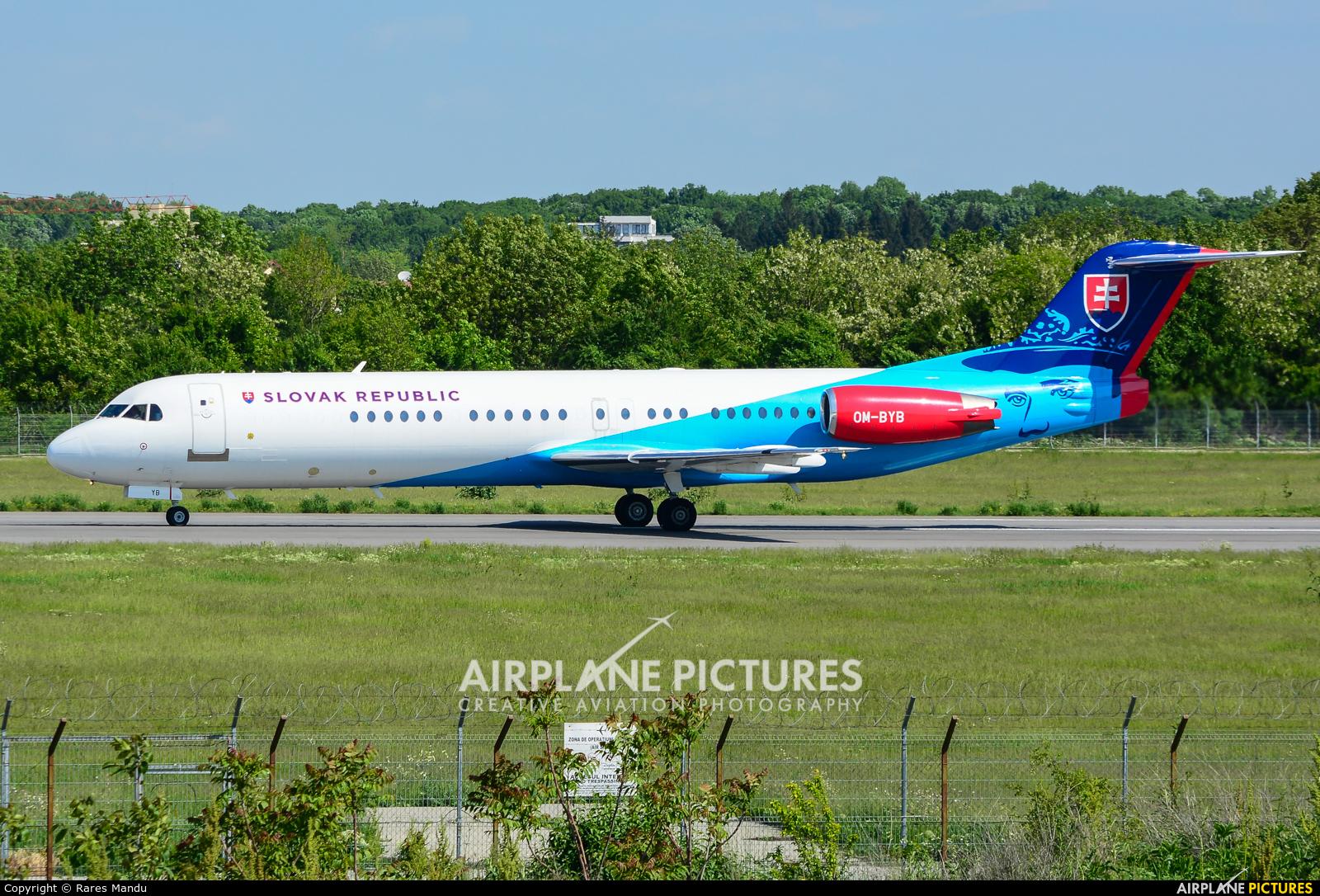 Slovakia - Government OM-BYB aircraft at Bucharest - Aurel Vlaicu Intl