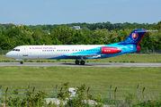 Slovak Government Fokker 100 visited Bucharest title=