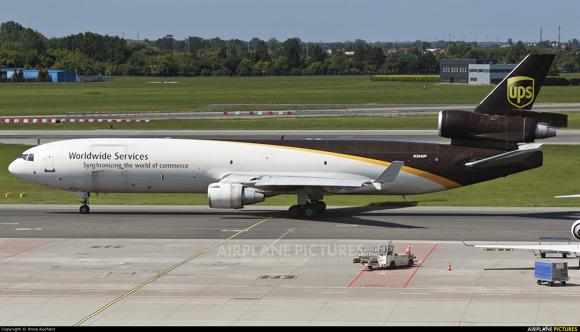 UPS - United Parcel Service N284UP aircraft at Warsaw - Frederic Chopin