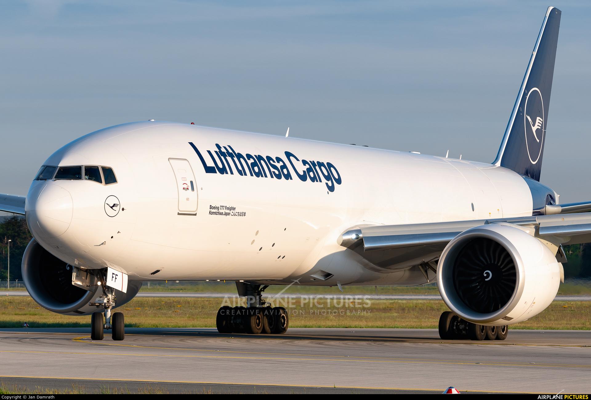 Lufthansa Cargo D-ALFF aircraft at Frankfurt