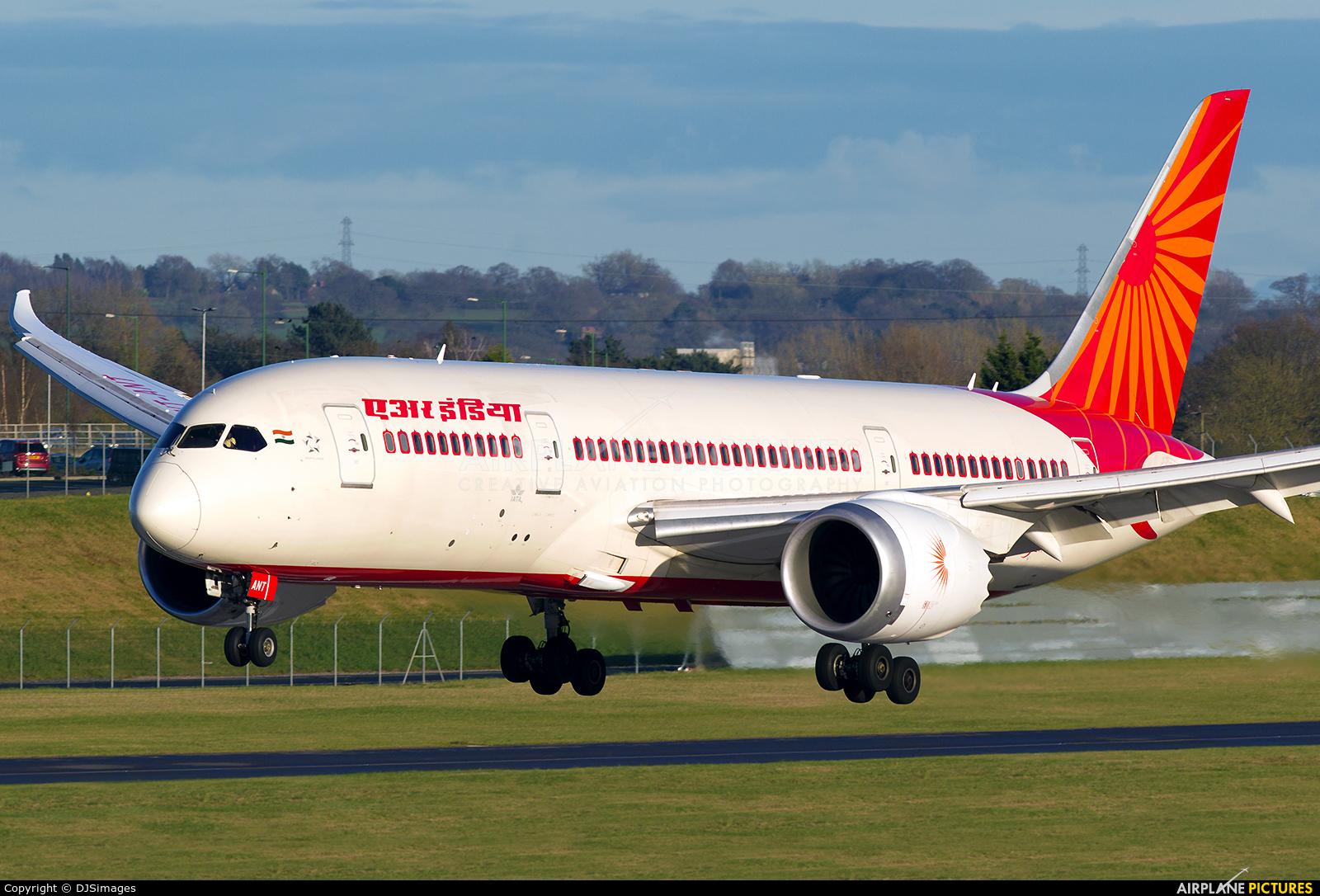 Air India VT-ANT aircraft at Birmingham