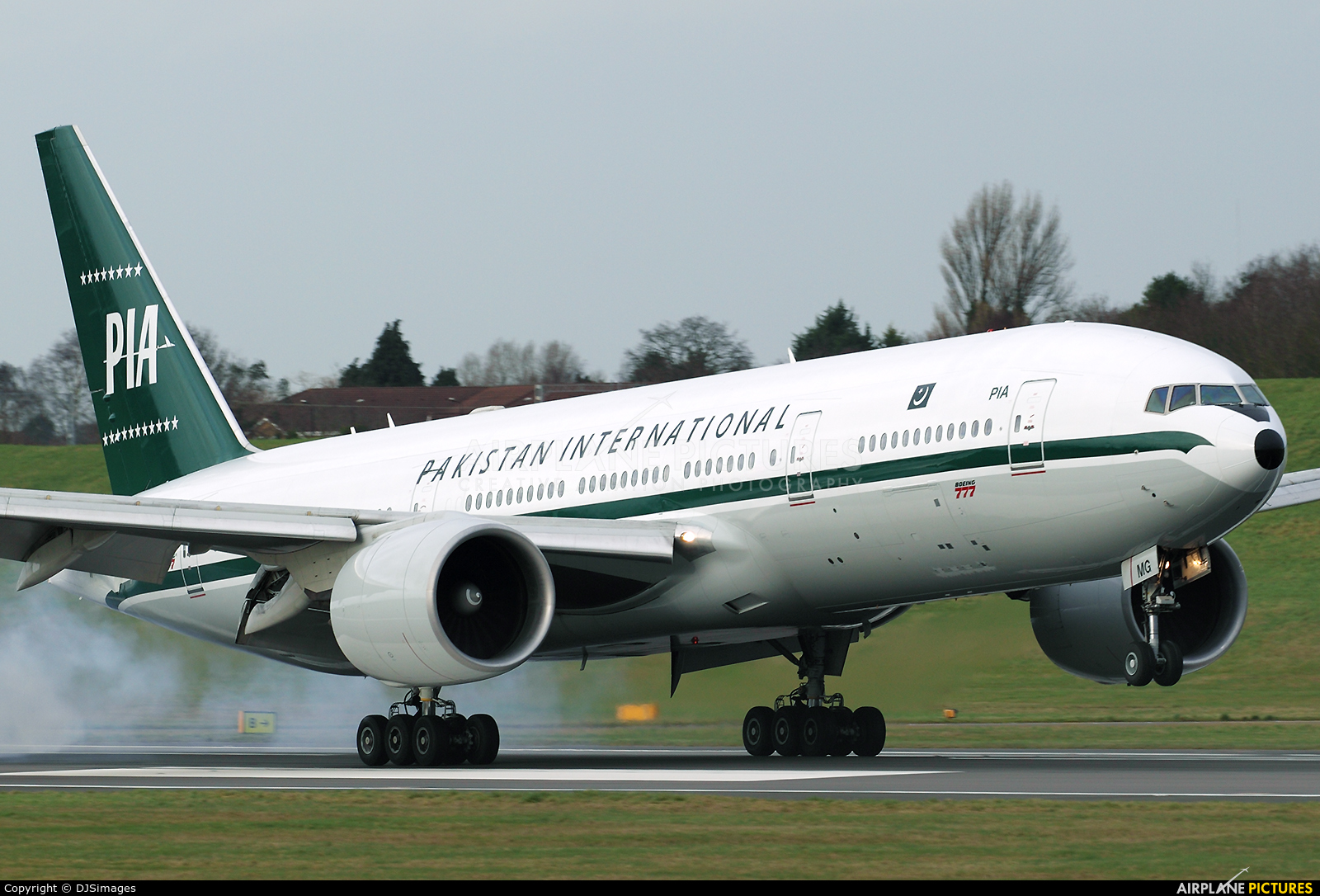 PIA - Pakistan International Airlines AP-BMG aircraft at Birmingham