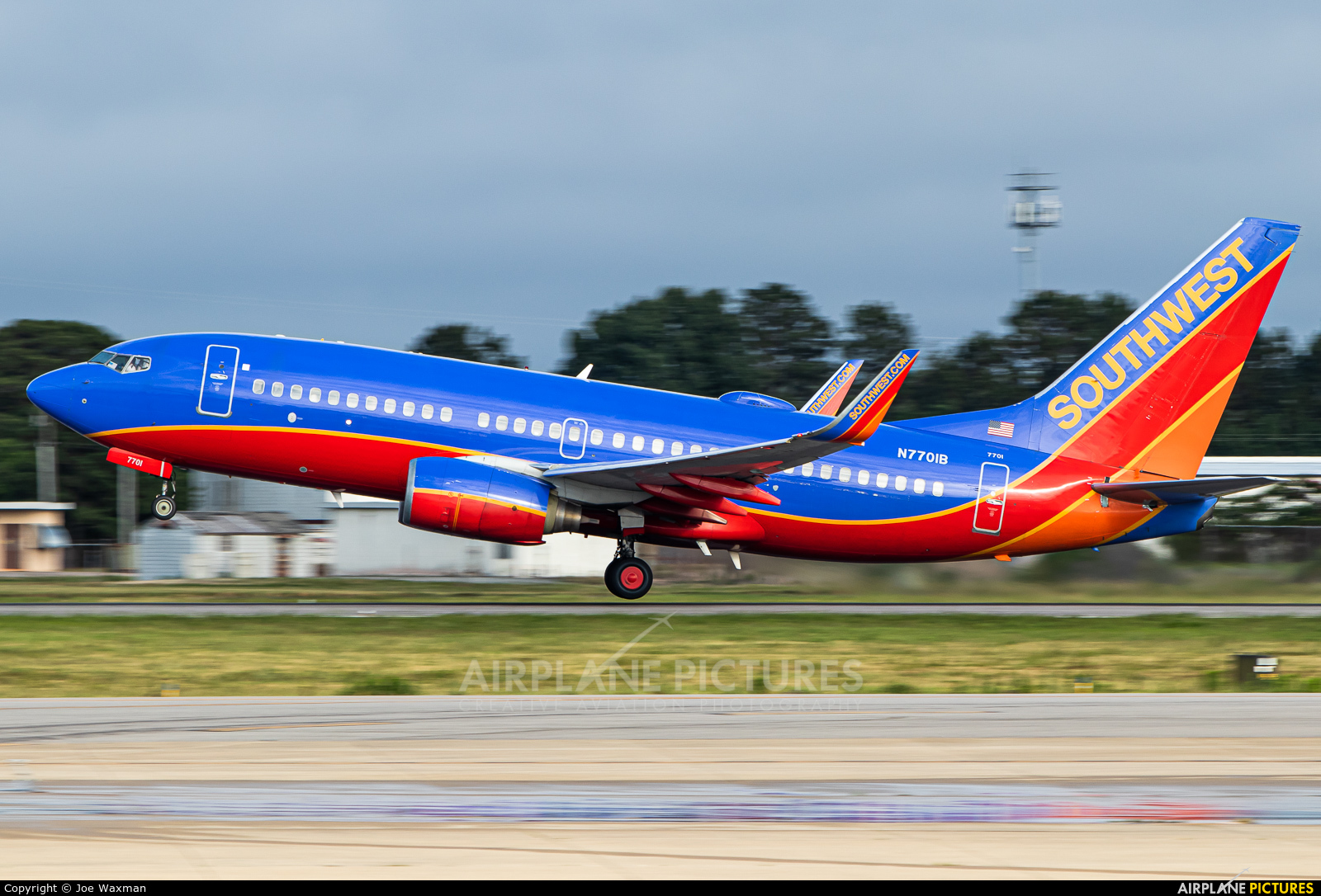 Southwest Airlines N7701B aircraft at Norfolk Intl