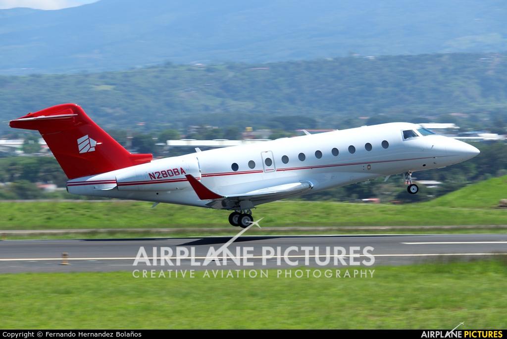 Private N280BA aircraft at San Jose - Juan Santamaría Intl