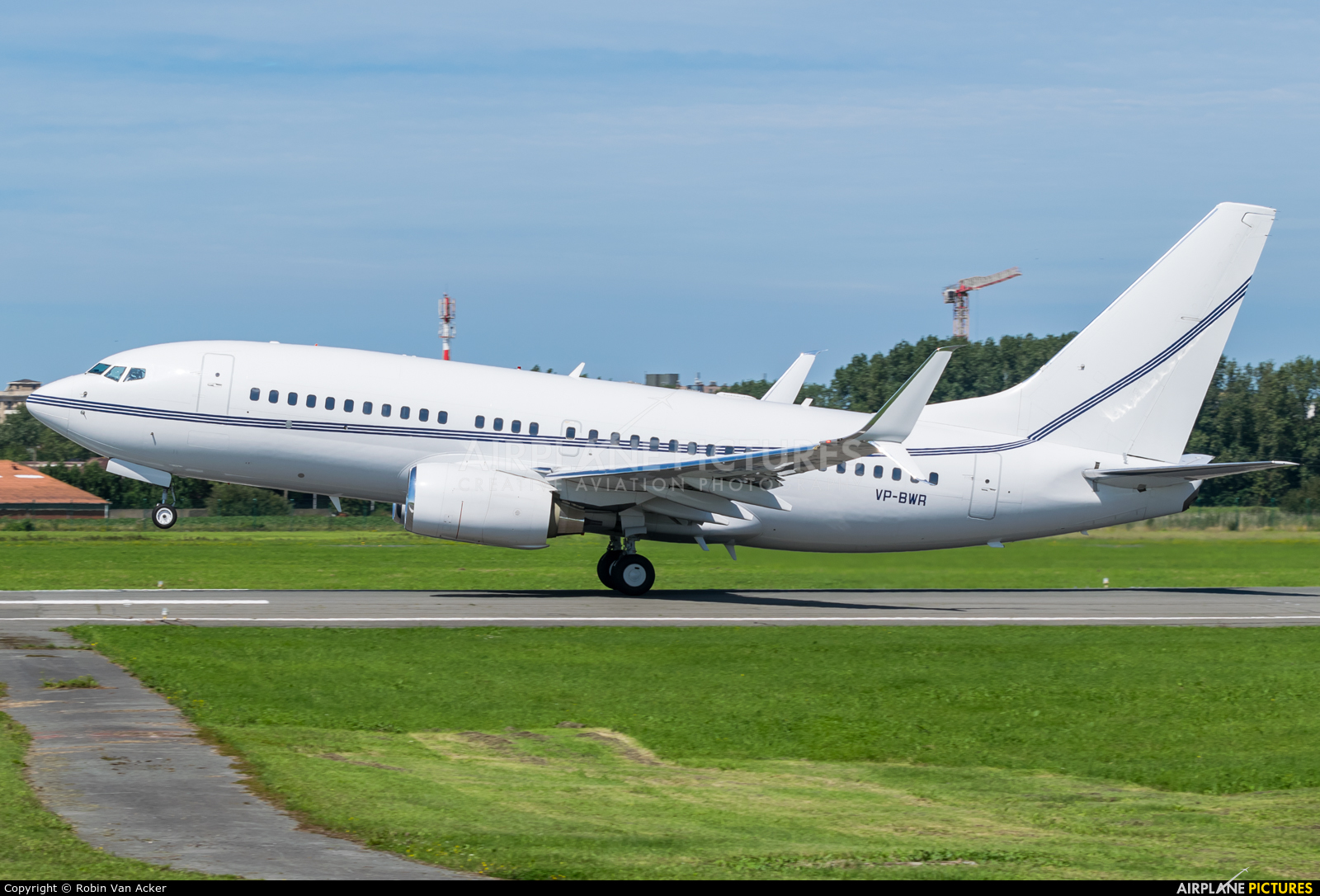 Private VP-BWR aircraft at Ostend / Bruges