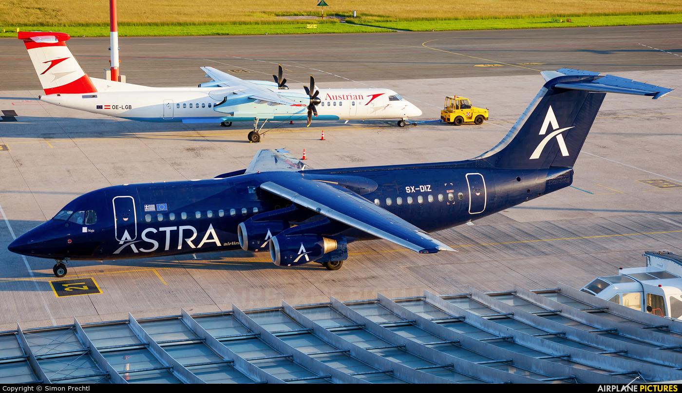 Astra Airlines SX-DIZ aircraft at Linz