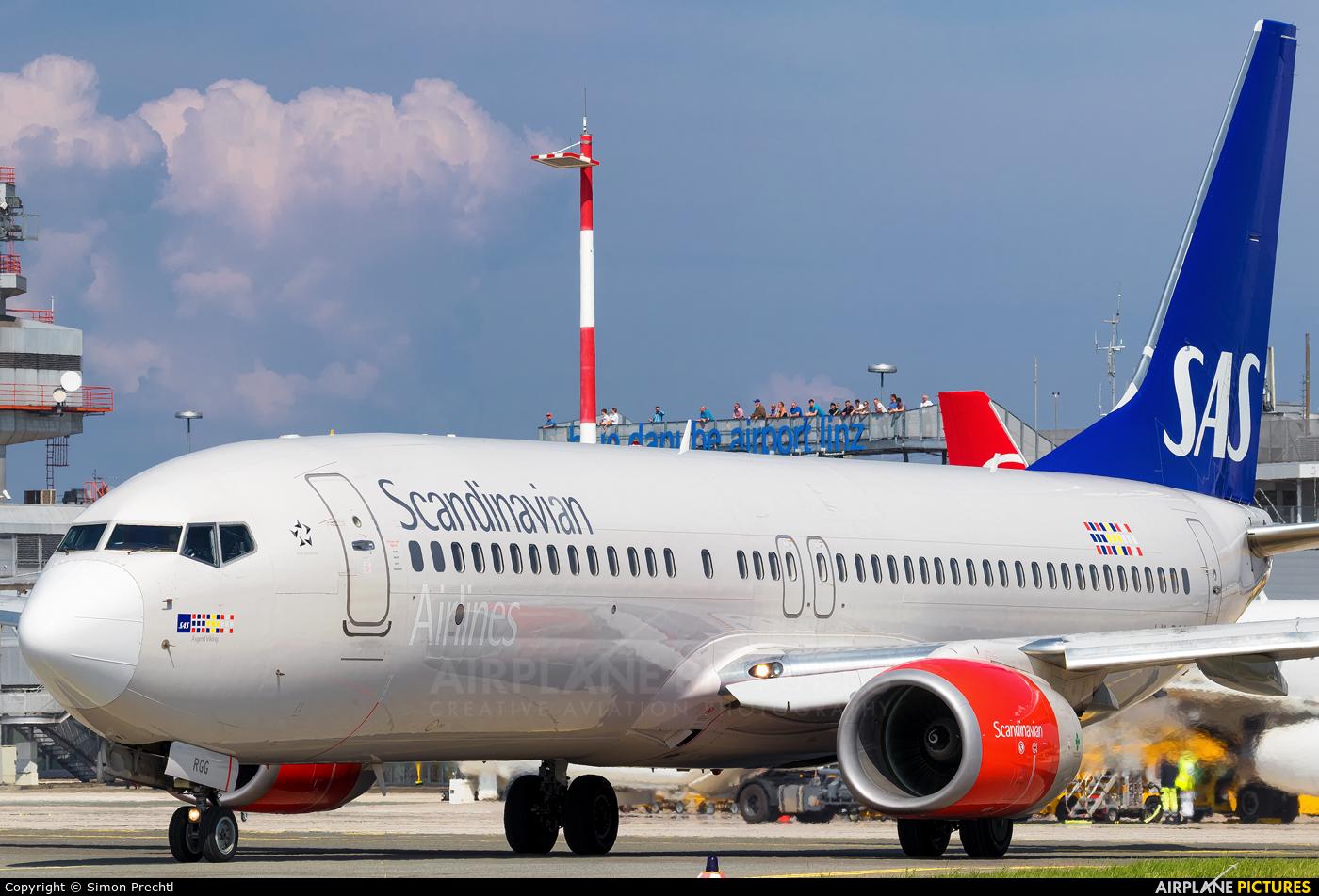 SAS - Scandinavian Airlines LN-RGG aircraft at Linz
