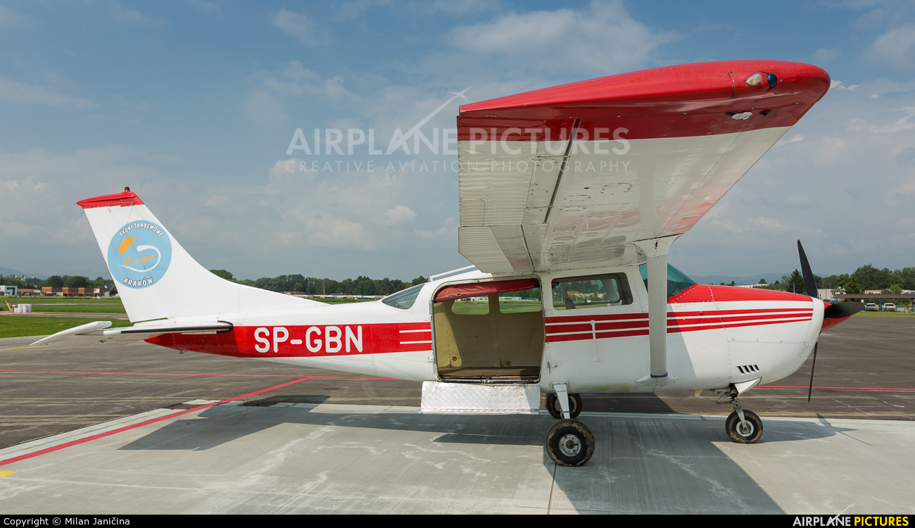 Private SP-GBN aircraft at Prievidza