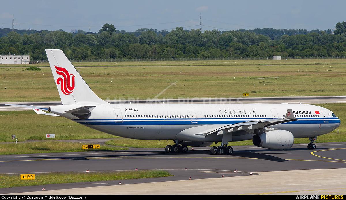 Air China B-5946 aircraft at Düsseldorf