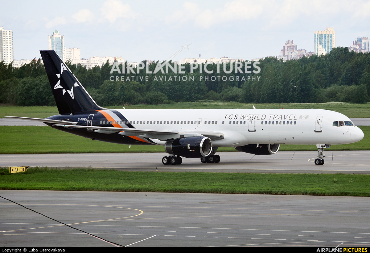 Titan Airways G-POWH aircraft at St. Petersburg - Pulkovo