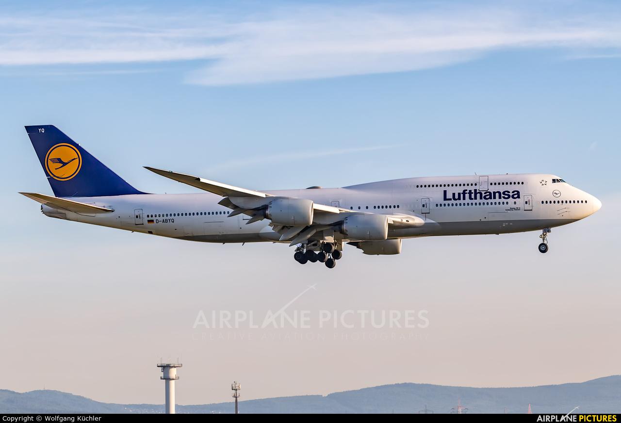 Lufthansa D-ABYQ aircraft at Frankfurt