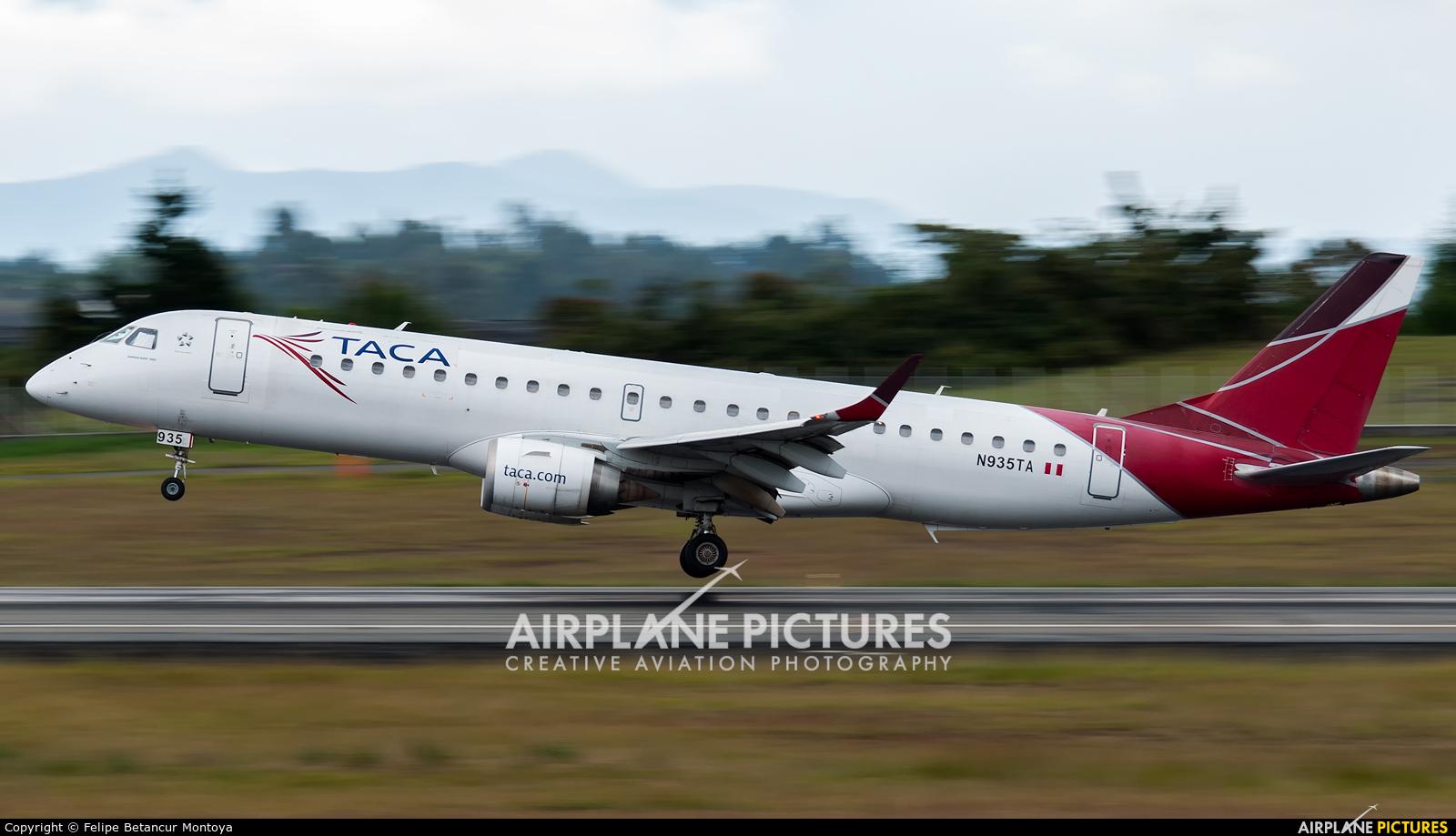 TACA N935TA aircraft at Medellin - Jose Maria Cordova Intl