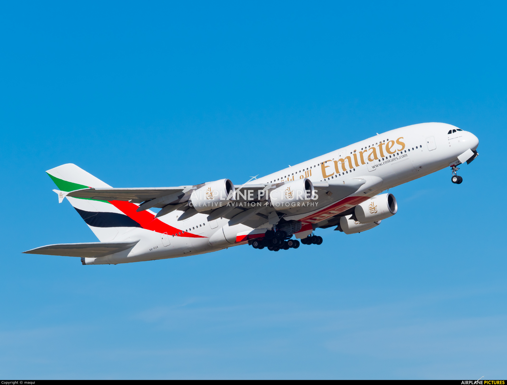 Emirates Airlines A6-EUA aircraft at Madrid - Barajas