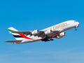 Emirates Airlines Airbus A380 A6-EUA at Madrid - Barajas airport