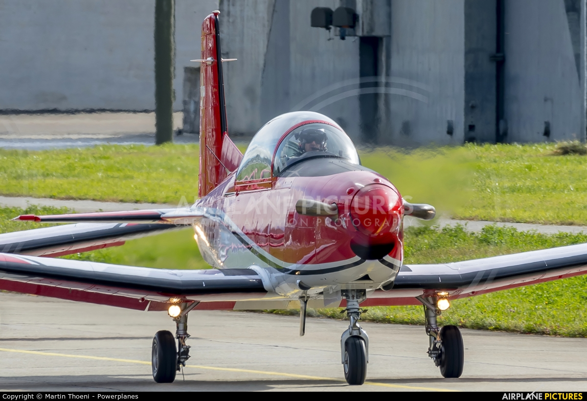 Switzerland - Air Force: PC-7 Team A-916 aircraft at Sion