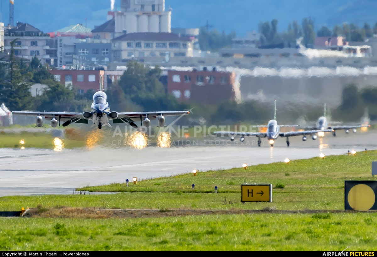 """Italy - Air Force """"Frecce Tricolori"""" MM55053 aircraft at Sion"""