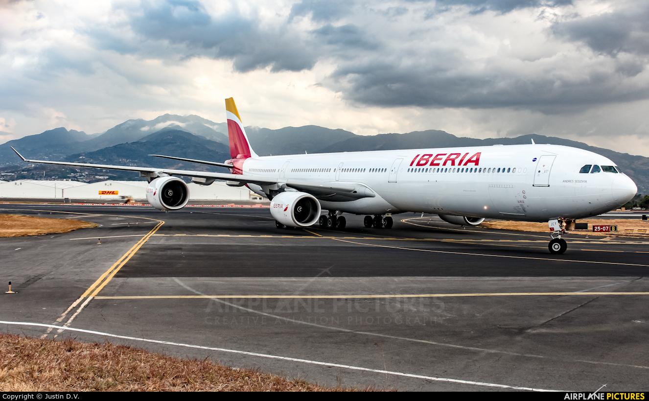 Iberia EC-JCY aircraft at San Jose - Juan Santamaría Intl