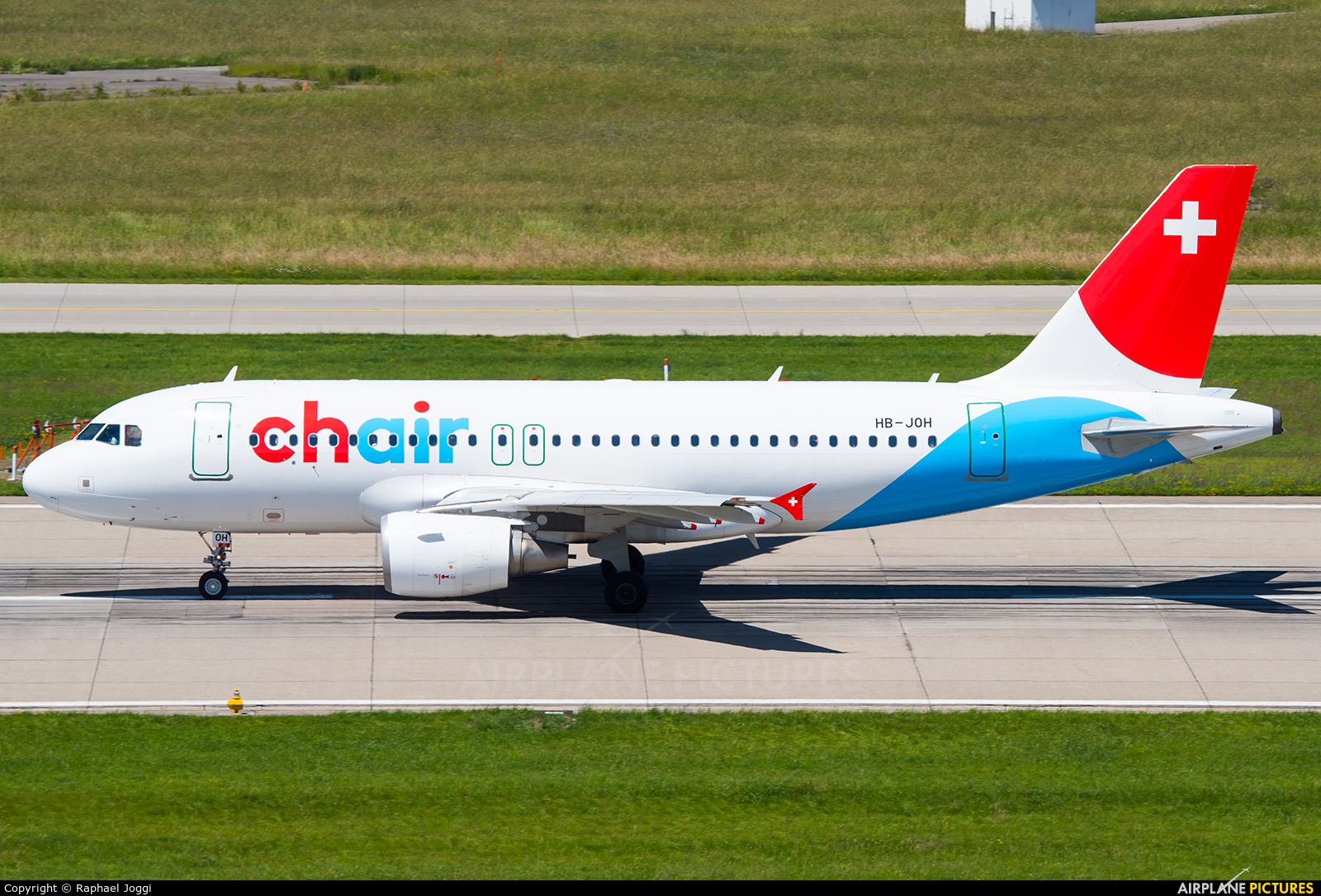 Chair Airlines HB-JOH aircraft at Zurich
