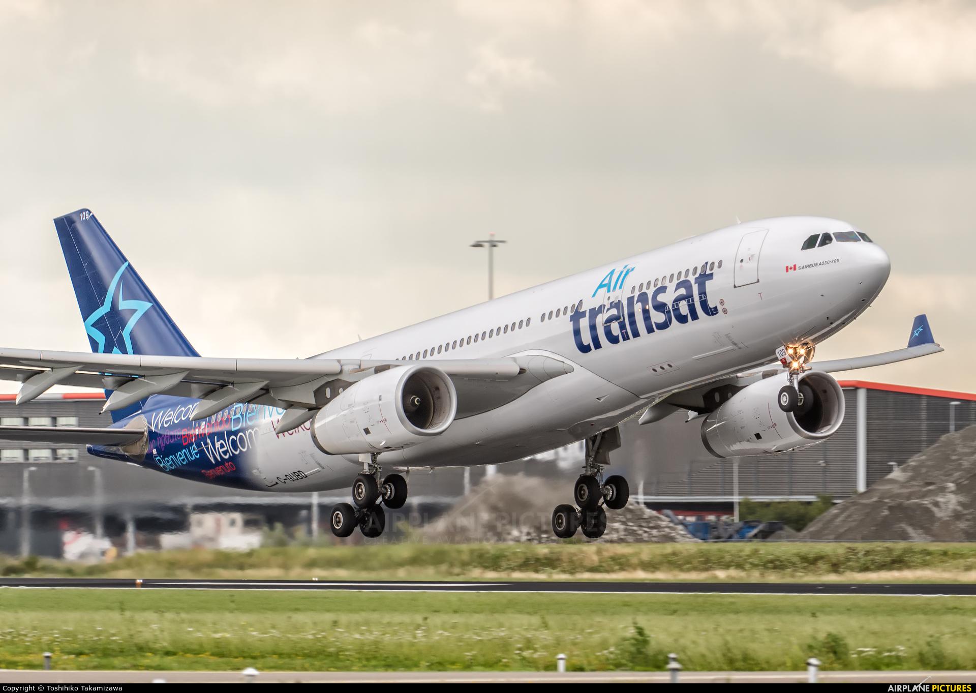 Air Transat C-GUBD aircraft at Amsterdam - Schiphol