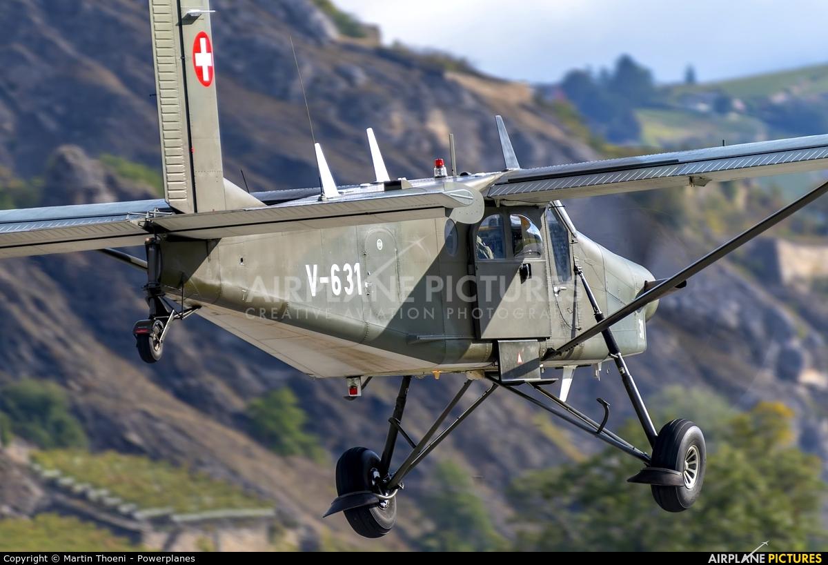 Switzerland - Air Force V-631 aircraft at Sion