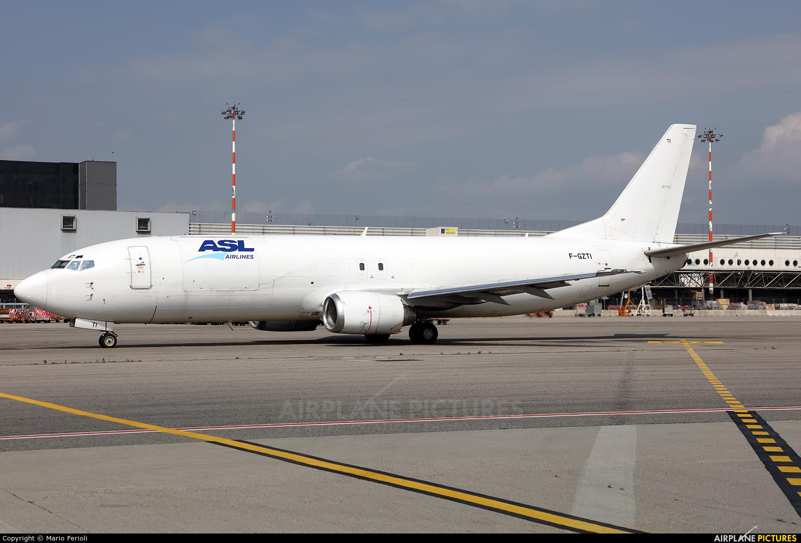 ASL Airlines F-GZTI aircraft at Milan - Malpensa