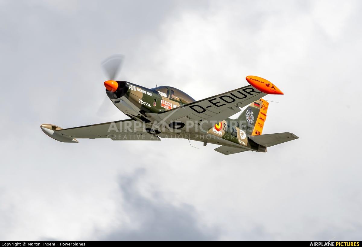 Senheiser Aviation Headsets D-EDUR aircraft at Sion