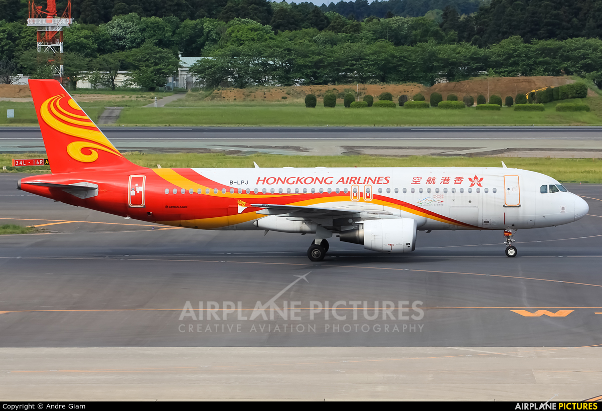 Hong Kong Airlines B-LPJ aircraft at Tokyo - Narita Intl