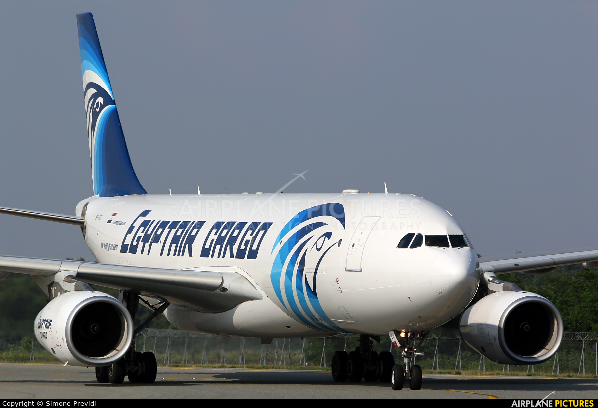 Egyptair Cargo SU-GCJ aircraft at Milan - Malpensa