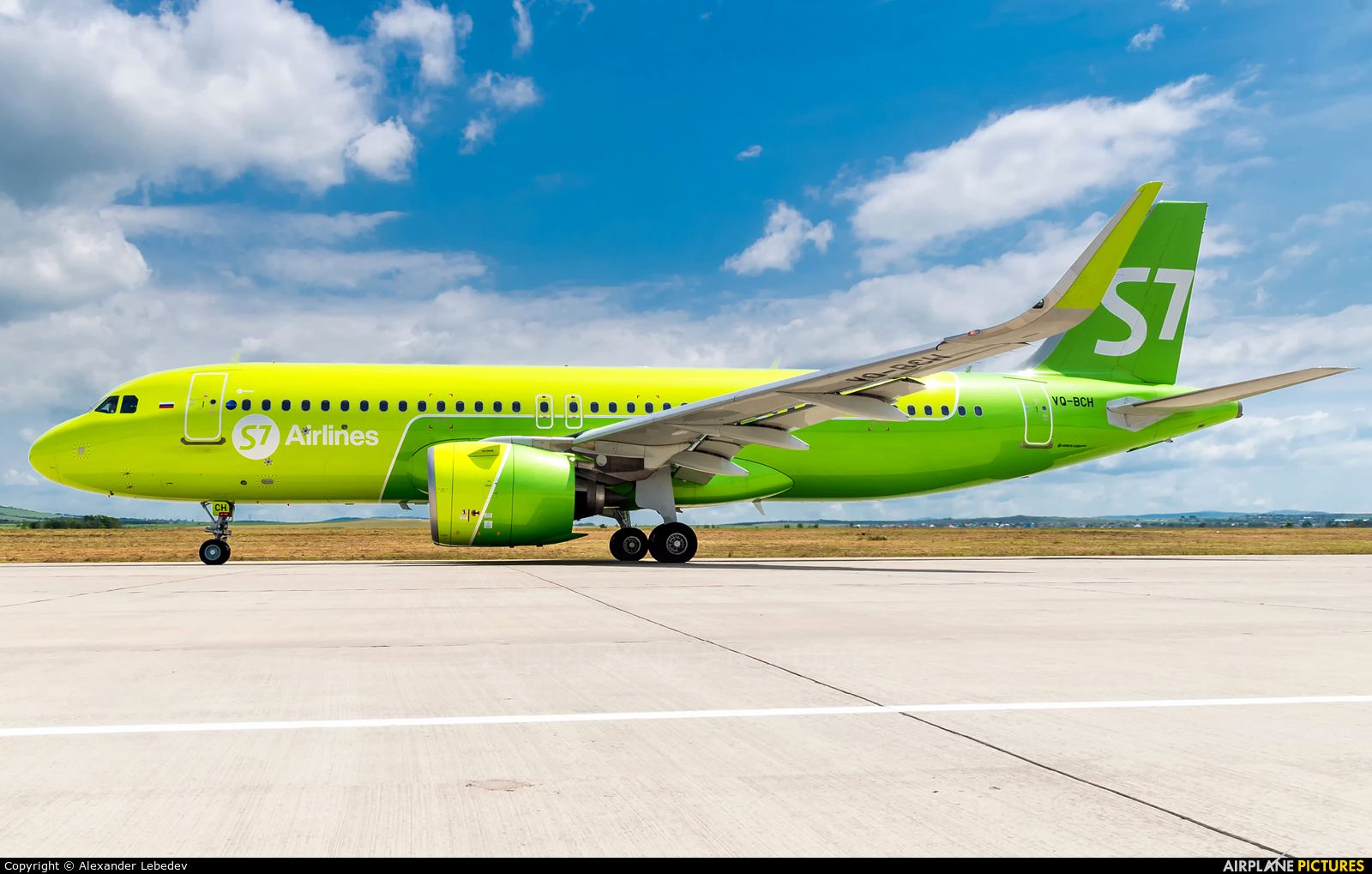 S7 Airlines VQ-BCH aircraft at Anapa Airport