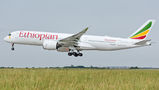 Ethiopian A350 operates for Smartwings from Prague