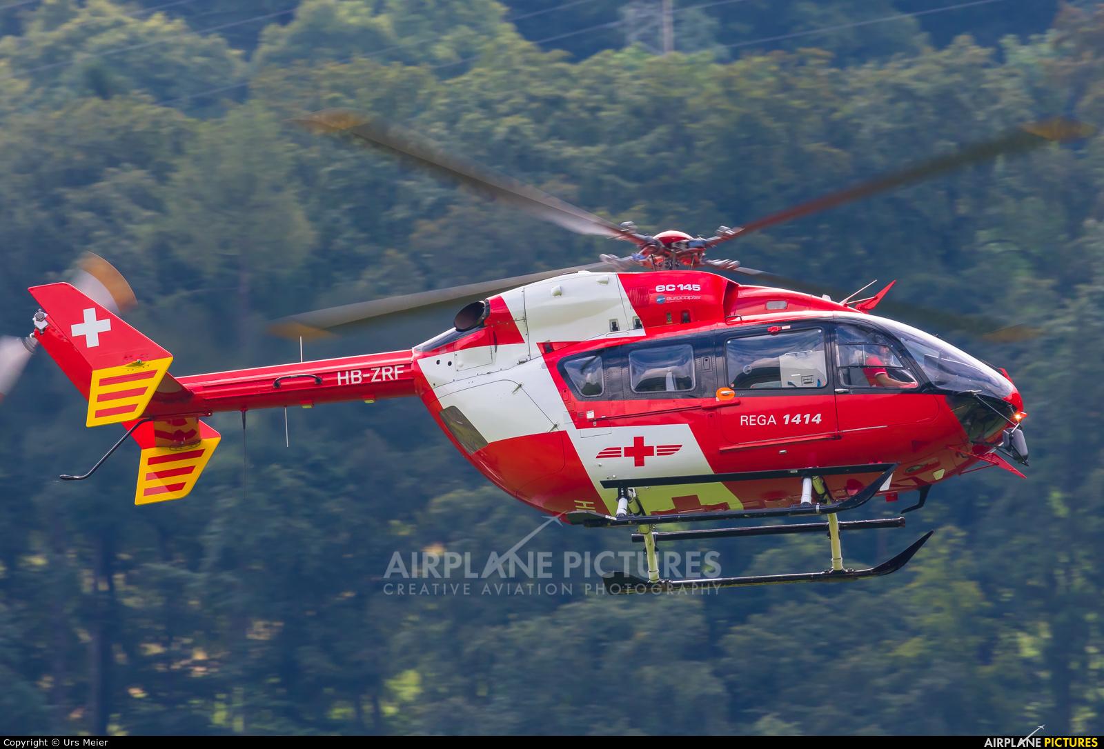 REGA Swiss Air Ambulance  HB-ZRF aircraft at Mollis