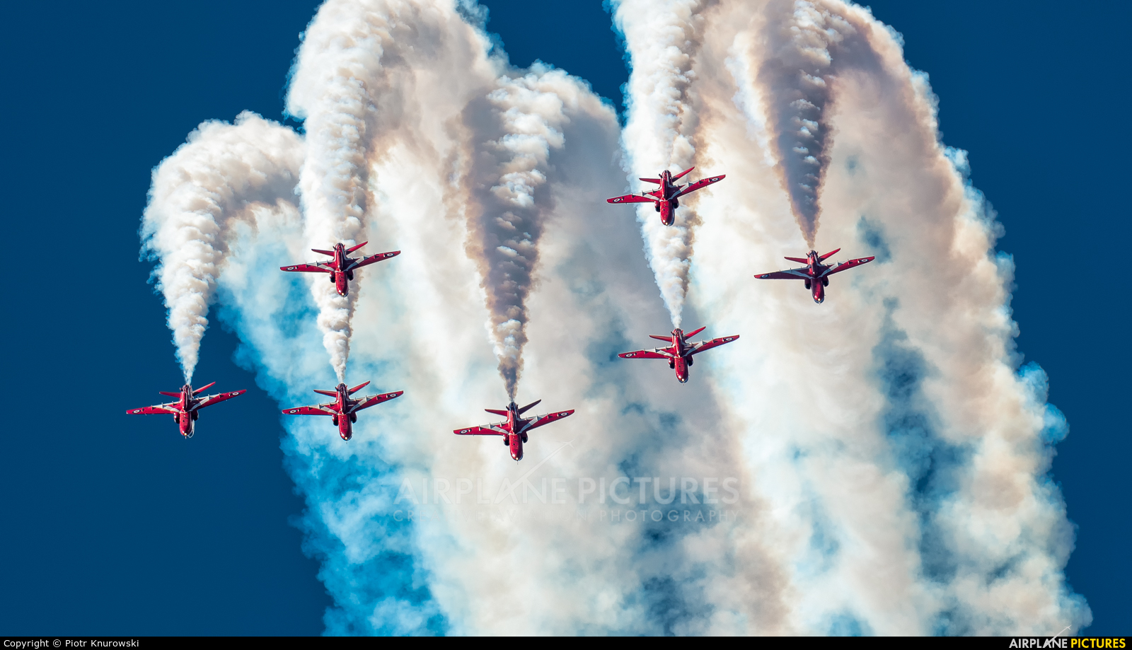 """Royal Air Force """"Red Arrows"""" XX319 aircraft at Uden - Volkel"""