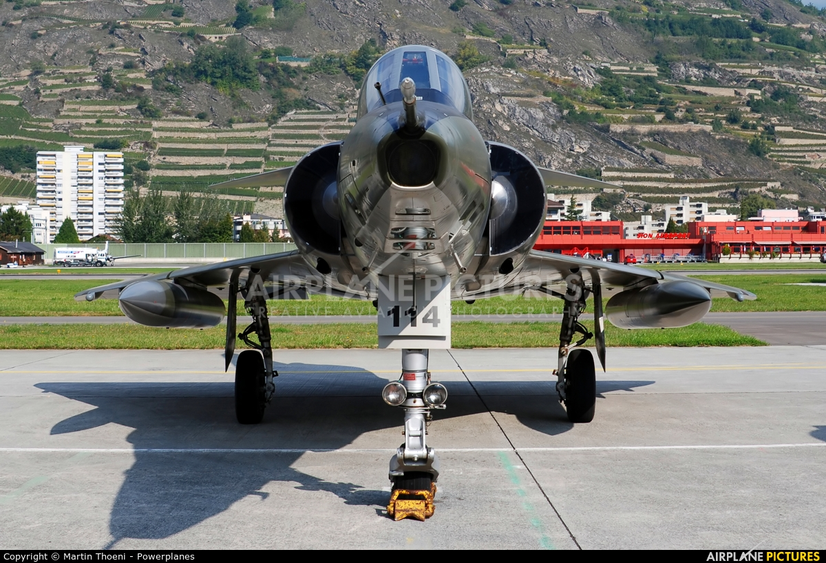 Switzerland - Air Force R-2114 aircraft at Sion
