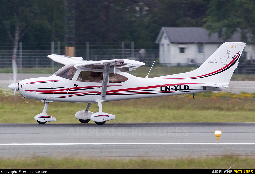 Private LN-YLD aircraft at Trondheim - Vaernes
